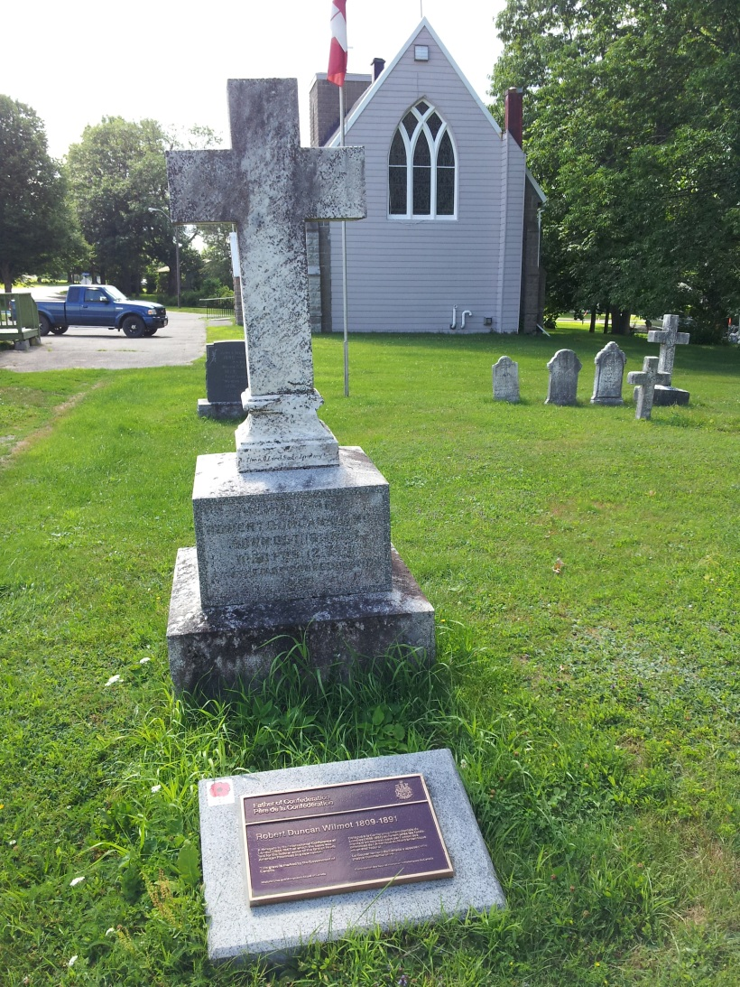 Grave of -Robert-Wilmot father of confederation