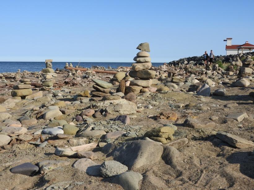 Inukshuk Beach Miscou Lighthouse