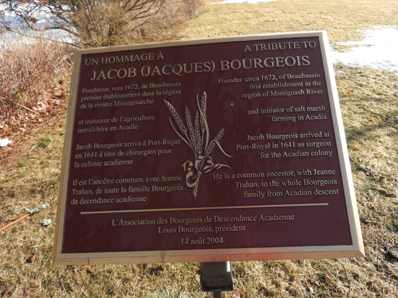 Jacob Bourgeois NHS Plaque wistor center ns