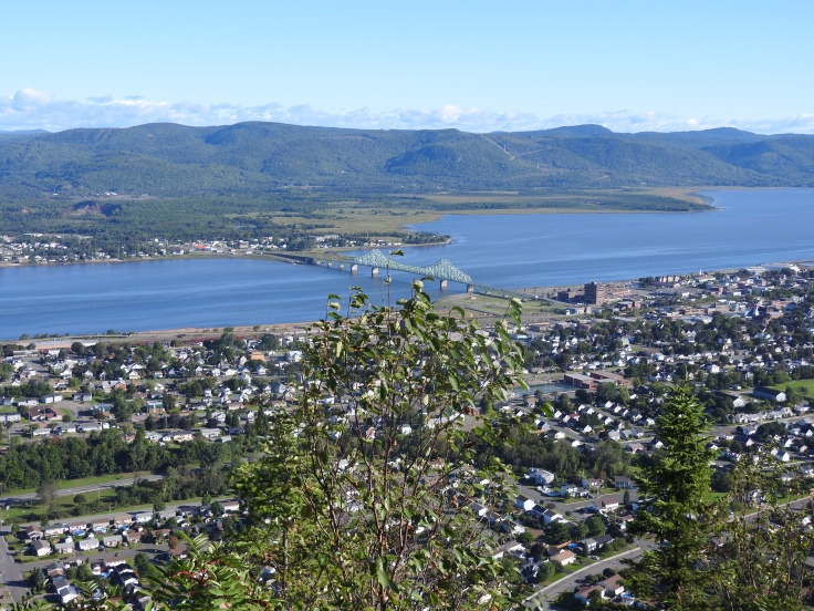 view of Campbellton from Sugarloaf Mountain top
