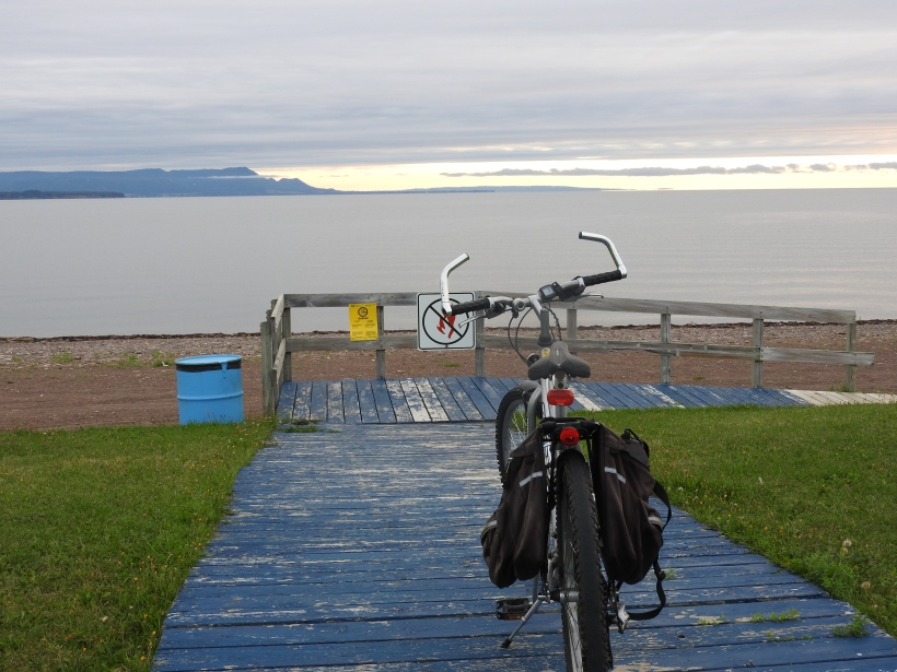 Camping Charlo  board walk and beach front view to Miquasha Qc