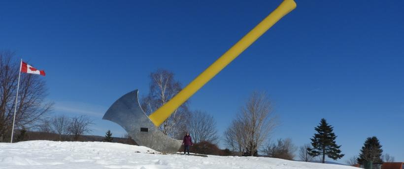 Worlds Largest Axe. NacKawie New Brunswick