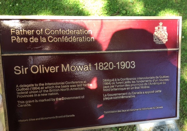 Oliver Mowat 1820-1903 Mount Pleasant cemetery Toronto.