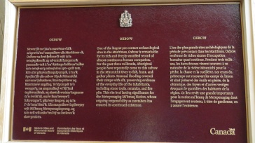 Government of Canada Plaque for Oxbow national historic site