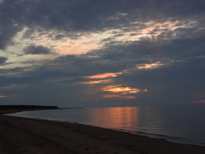 Sunset stanhope beach PEI Nationa Park