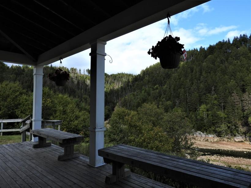 Interpretive center porch