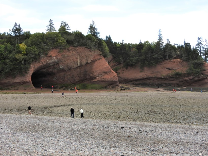 St Martins sea caves at low tide