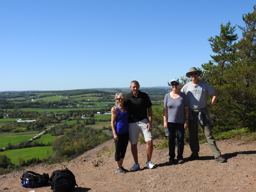 Group on top of Sussex Bluff, NB