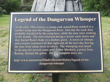Legend of the Dungarvon whooper Blackville New Brunswick