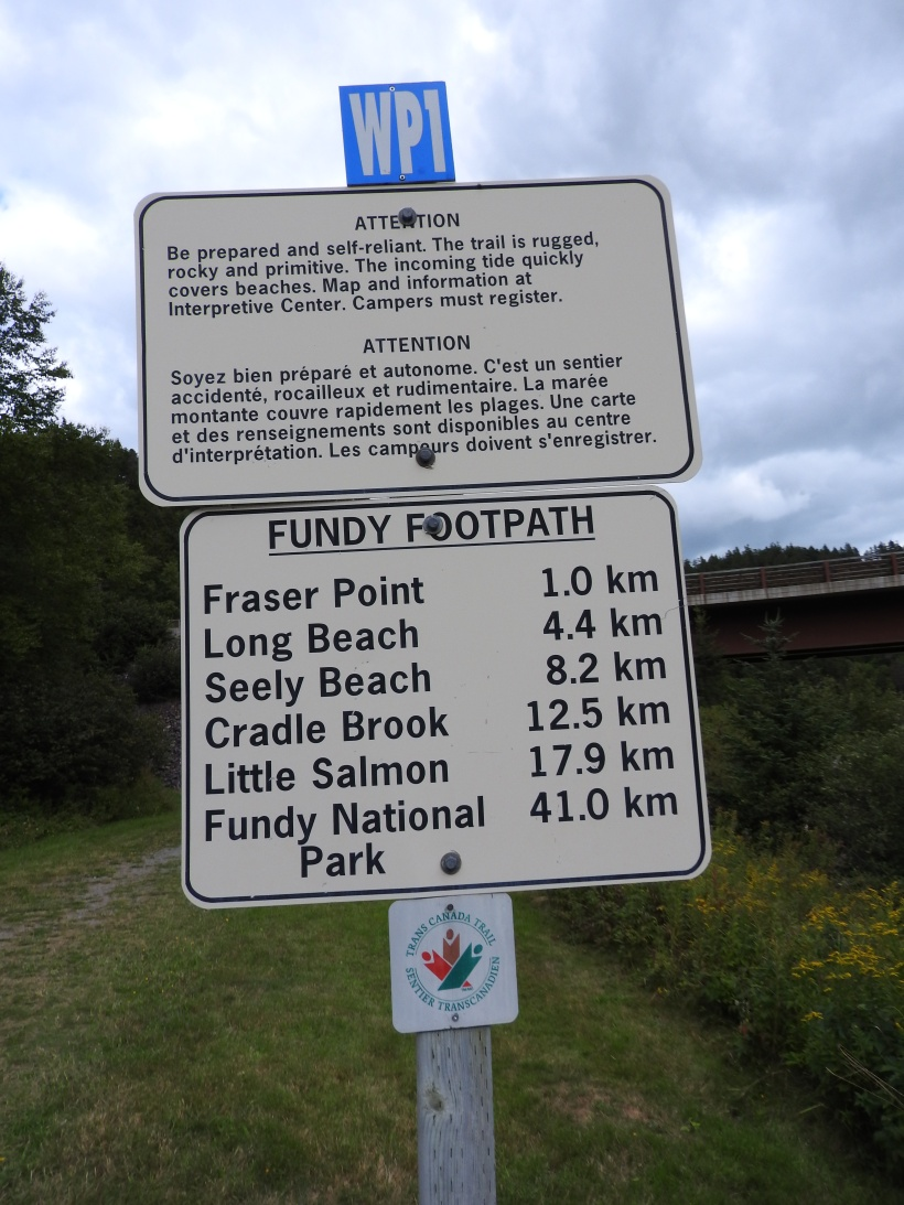start of the Fundy foot trail