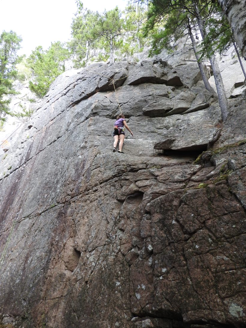 Anne Snyder climbing on her bday