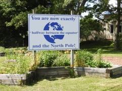 Half way between North Pole and Equator, Stewiacke Nova Scotia
