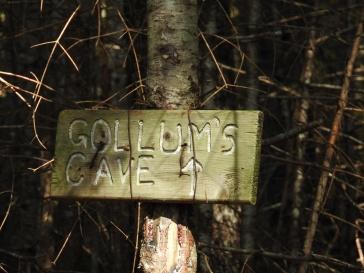 Gollums Cave signage