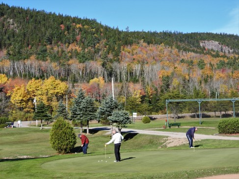 warm up practice area Welsford Golf Course