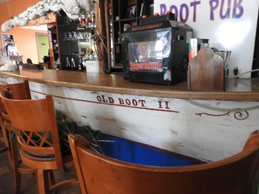 The old Boot Pub, the bar is made from half of an old boot named the old boot 11