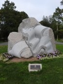 Cascade, sculptor: Agness Petrovia ,Art and Culture park in Quispamsis