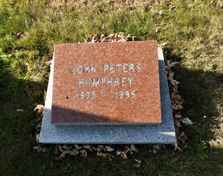 Grave of John Peters Humphrey