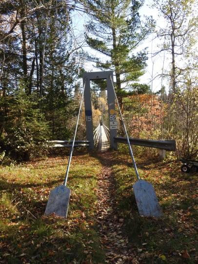 suspension bridge 1582 titusville, New Brunswick