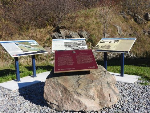 National Historic Site Plaque and Interpretive site