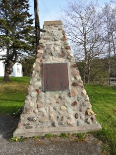 National Historic Site Monument for St Peters Canal, beside Lock Master house