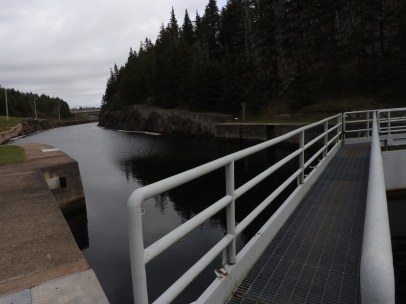 St Peters Canal walking across locks into Battery Provincial Park