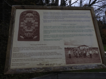 Interpretive sign boards in Battery Provincial Par