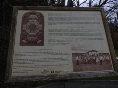 Interpretive sign boards in Battery Provincial Par