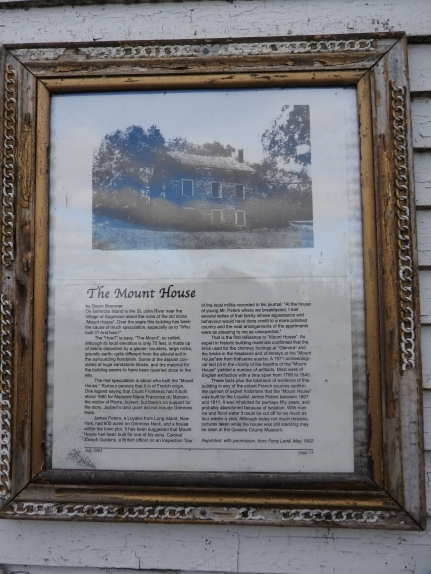 Story of the Mount House on Gagetown Island