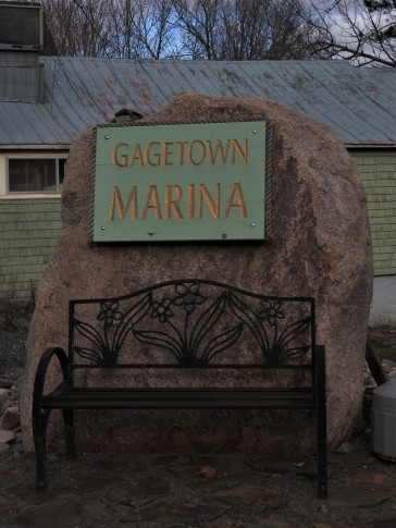 Gagetown Marina sign