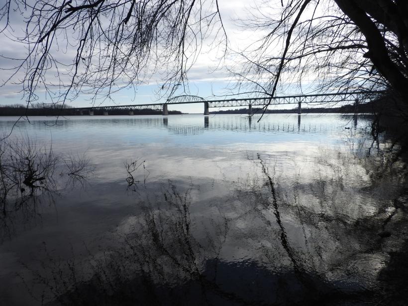 Looking towards Highway 8 Over the Saint John River