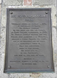 Sir Howard Douglas Hall Historic Plaque