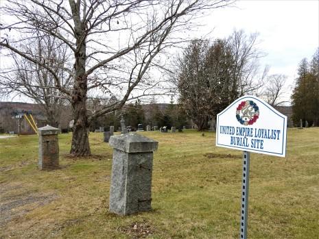 United Empire Loyalist Burial Site Trinity Anglican Church. Kingston, New Brunswick