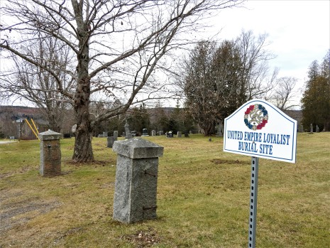 United Empire Loyalist Burial Site Trinity Anglican Church. Kingston, New Brunswick