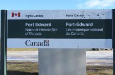 Fort Edward Windsor Nova Scotia, National Historic Site. Oldest Military Blockhouse in North America