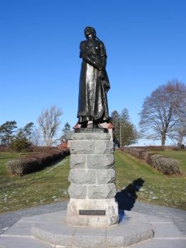 Grand Pre National Historic site and UNESCO world heritage site. Statue of Evangeline from Henry Wadsworth Longfellow poem