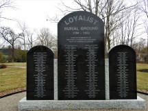 Loyalist cemetery in St Stephen N Names of the interned Loyalist