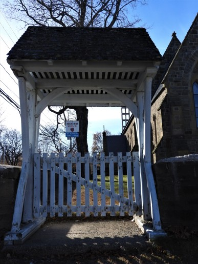 Lynch Gate at Anne Chapel of Ease, Used to keep the coffins dry when it was bad weather. very rare now a days