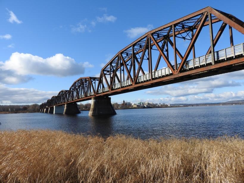 Bill Thorpe Walking Bridge from below on the North side
