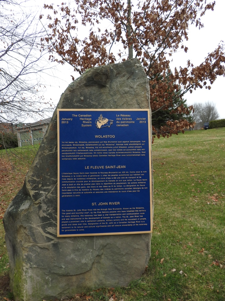 Saint John's Canadian Heritage River Plaque