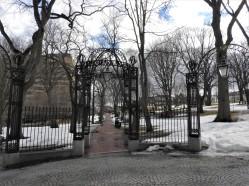 Gates to Old Burial Ground saint John