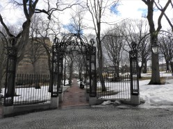 Gates to Old Burial Ground saint John