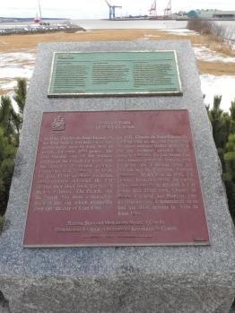 Fort La Tour National Historic site and Provincial historic site plaques