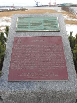Fort La Tour National Historic site and Provincial historic site plaques