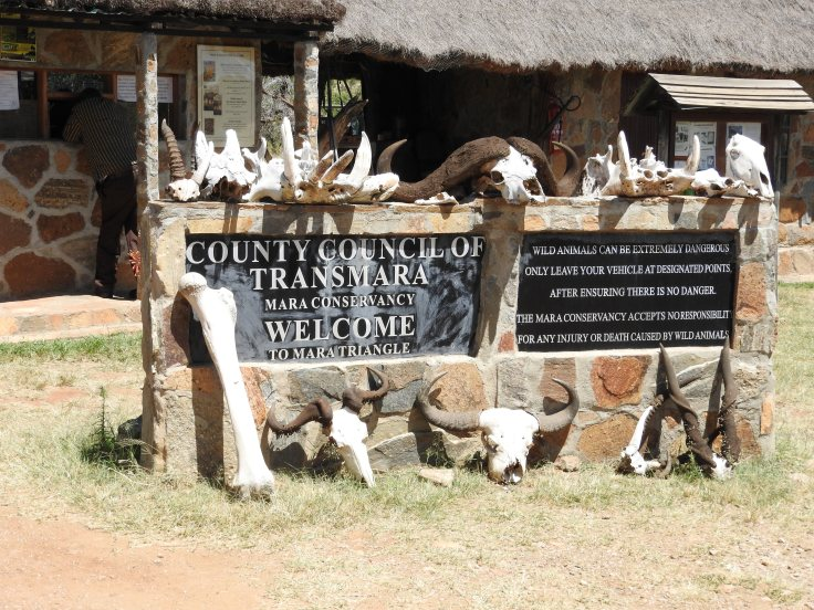 Welcome gate Mara conservancy