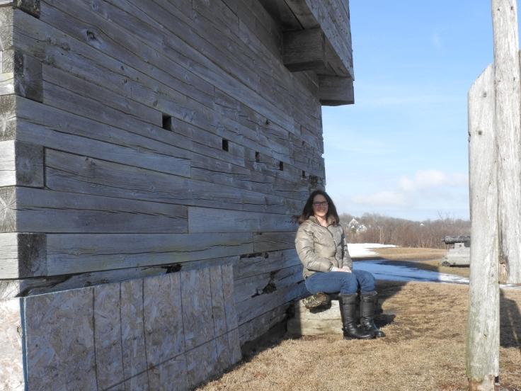 Me beside block house Fort Howe Saint John