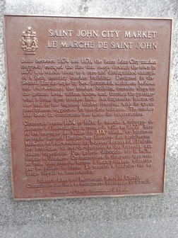 Saint John City Market National Historic Plaque