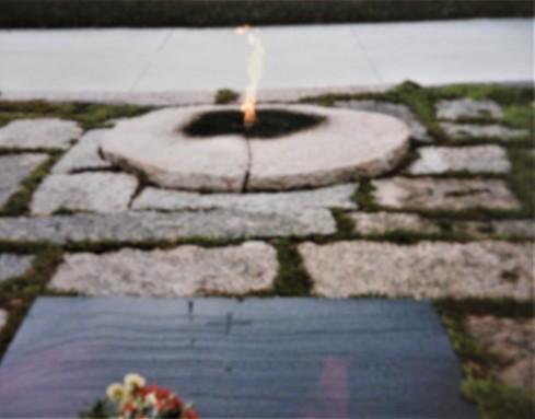 Eternal Flame Kennedy Grave Arlington National Cemetery