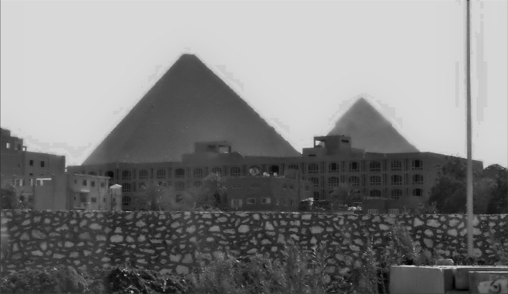 First view of the Pyramids
