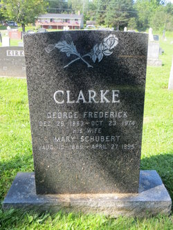 George Frederick Clark headstone and grave