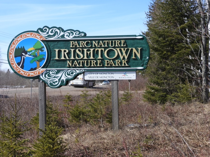 Irishtown Nature Park sign